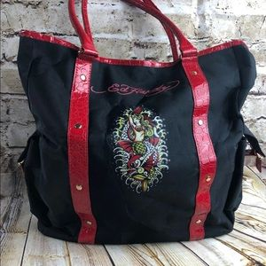 Ed hardy mermaid black tote